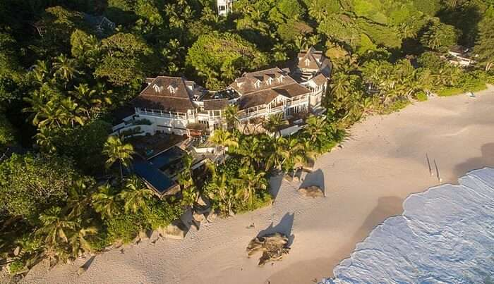 aerial view of Banyan Tree In Seychelles