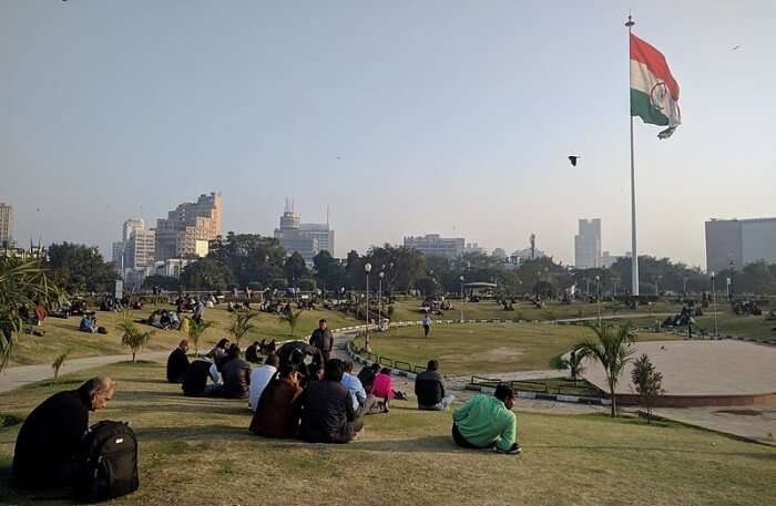 Connaught Place Park and couples