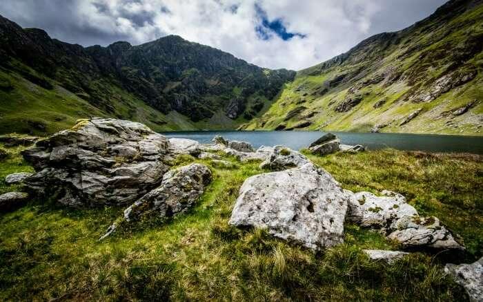 View of Cwm Cau in Wales