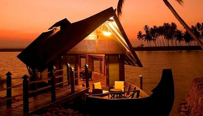 Shot of Evergreen Houseboat in Alleppey