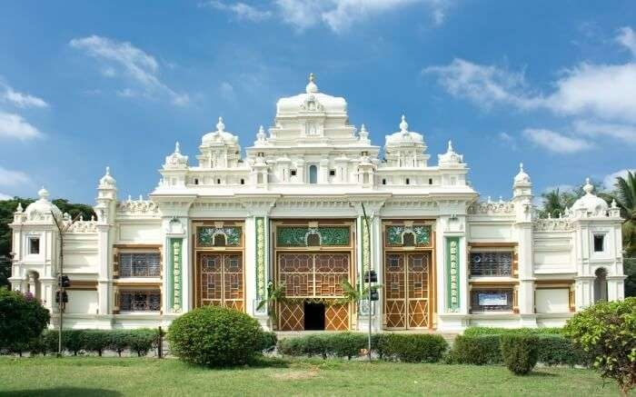 Facade of Jagan Mohan Palace in Mysore