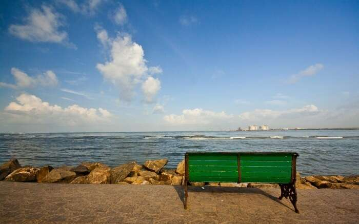 Bench in Fort Kochi Beach