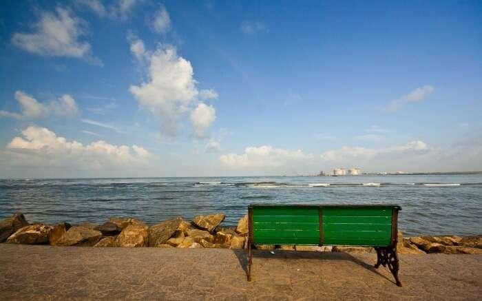 Bench in Fort Kochi Beach