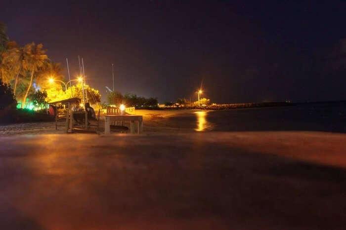 night photography maldives