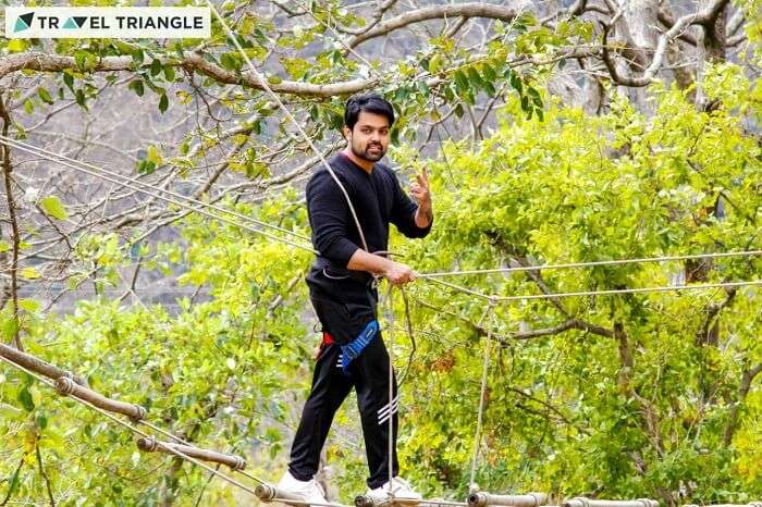 Saurabh indulging in adventure activities