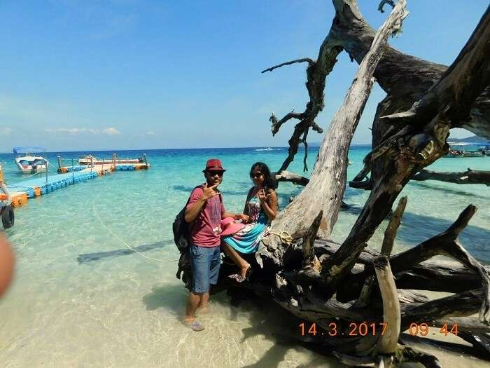 couple on andaman beach