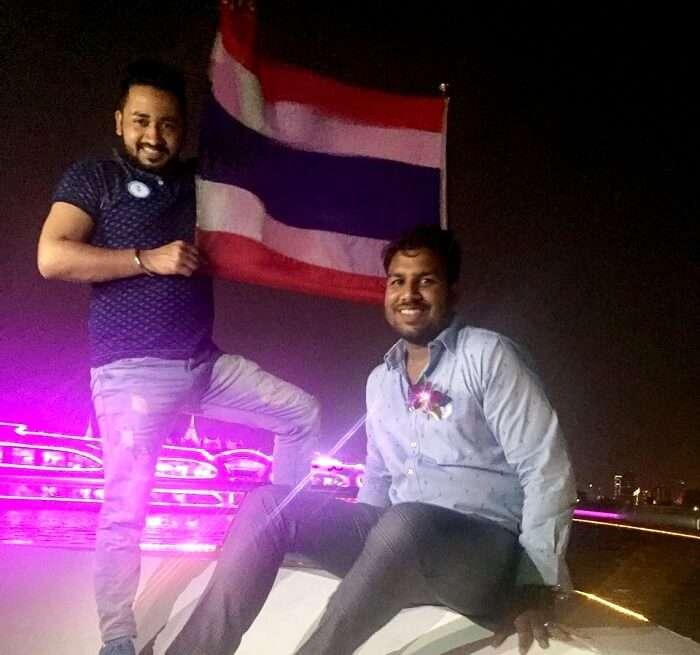 aboard the chao phraya dinner cruise