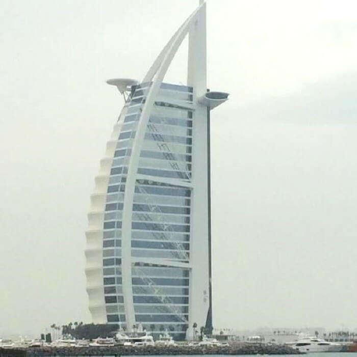 close view of Burj Al Arab