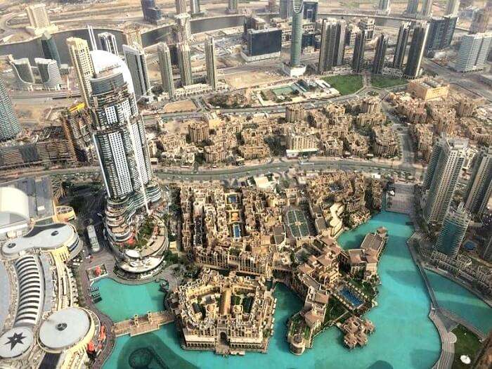 Sky view of Dubai