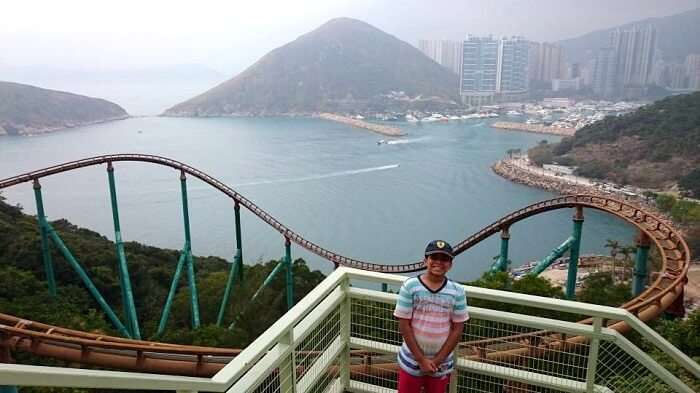 Views from Ocean Park in Hong Kong