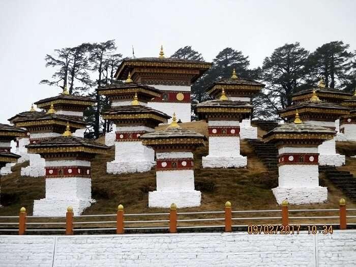 stupa at the dochula pass