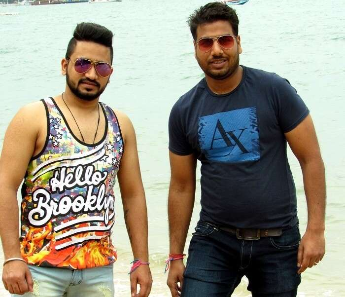 kapil and his friend on coral island