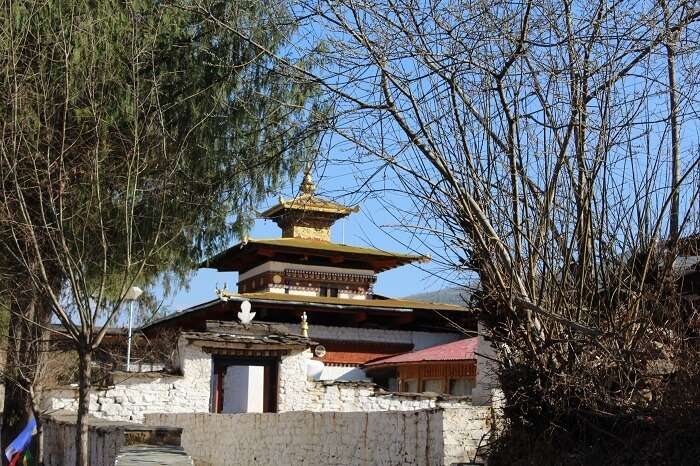 a fortress entrance in Bhutan