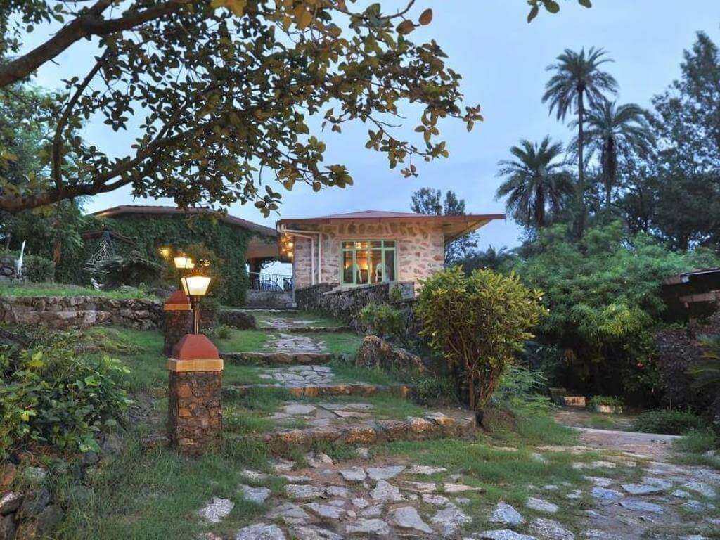 dimly lit cottage of Welcome Heritage Hotel
