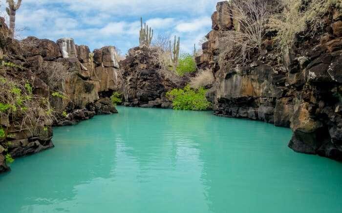 Emerald water of Las Grietas
