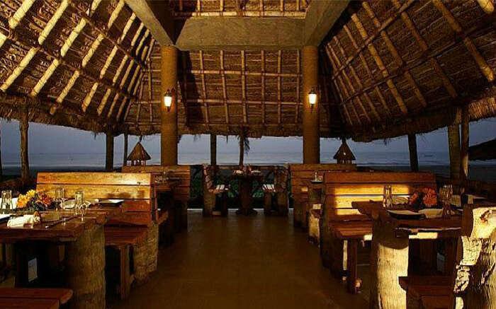 Romantic dining area of The Wharf in Mahabalipuram in Chennai SS28042017
