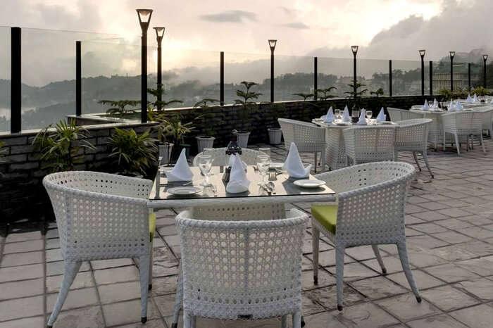A rooftop restaurant in Shimla