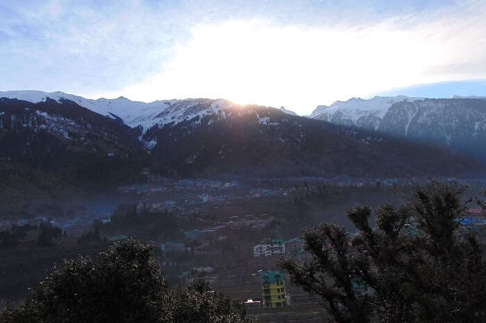 View from Manali hotel - Day 2