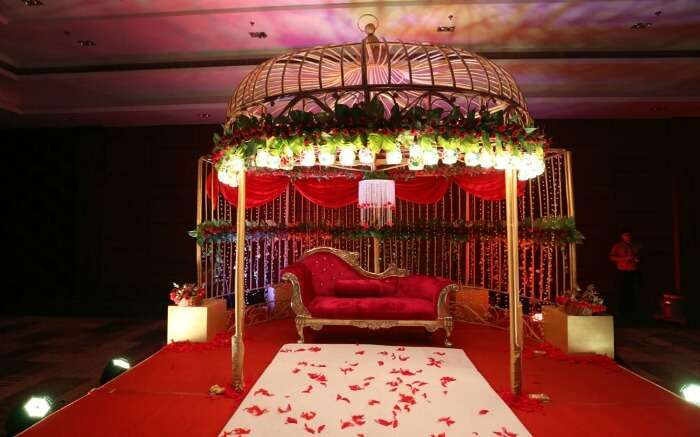 Wedding state in one of the best wedding venues in Kolkata - The Vedic Village
