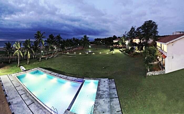 Well-lit surroundings of The Ashok Beach Resort in PondicherrySS22042017