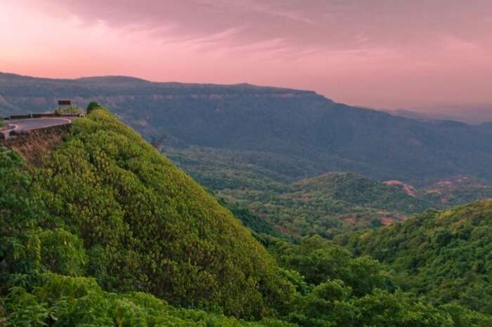 The top view of valley in Agumbe in Shimoga