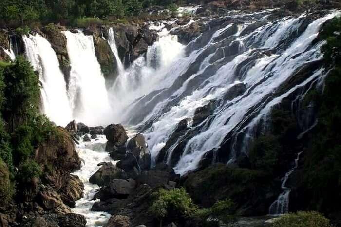 Waterfall during monsoon in Shivanasamudra