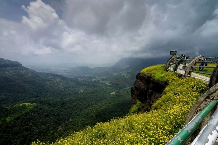 Glorious nature view from the top of Malsej ghat