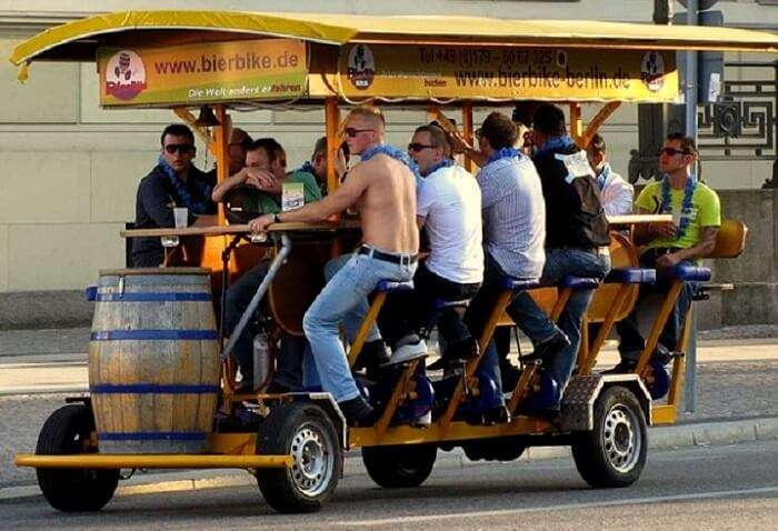 beer bike party amsterdam