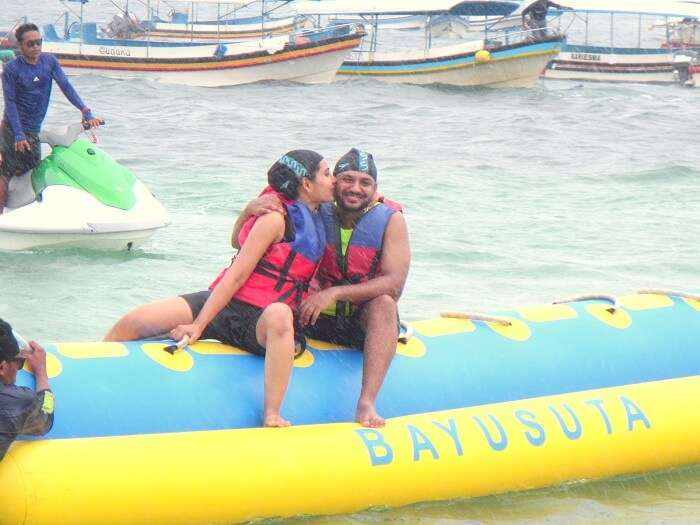 banana boat ride in benoa beach