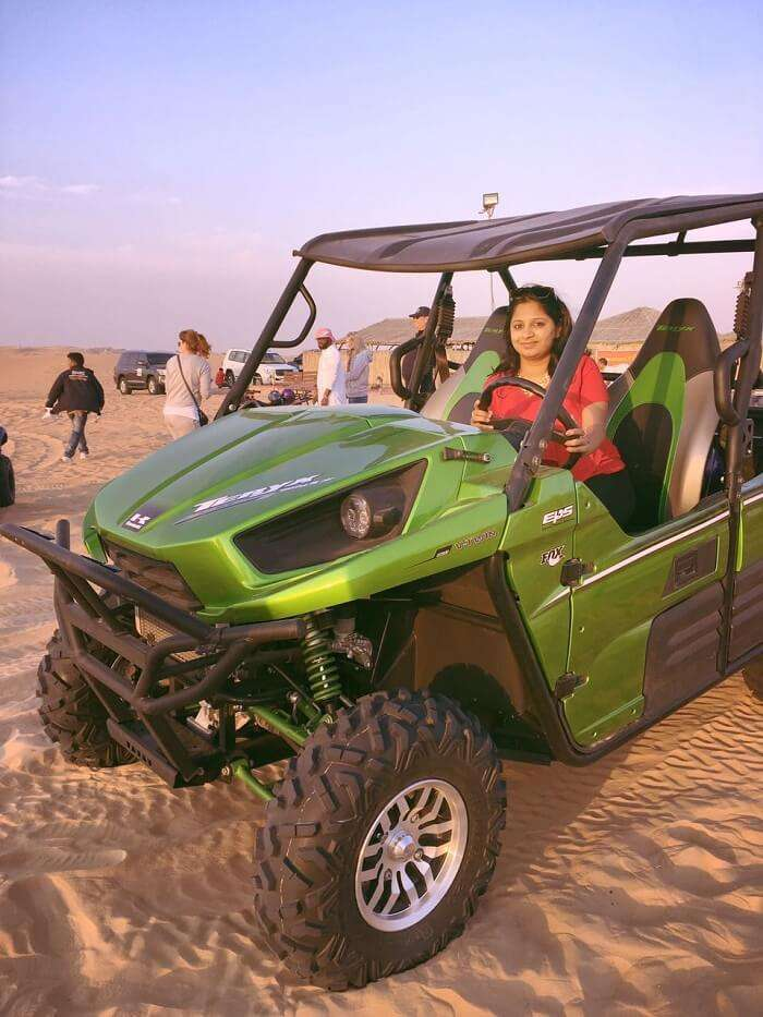 buggy ride in desert safari dubai