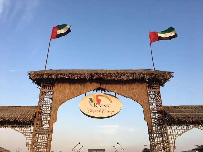 dubai desert safari camp