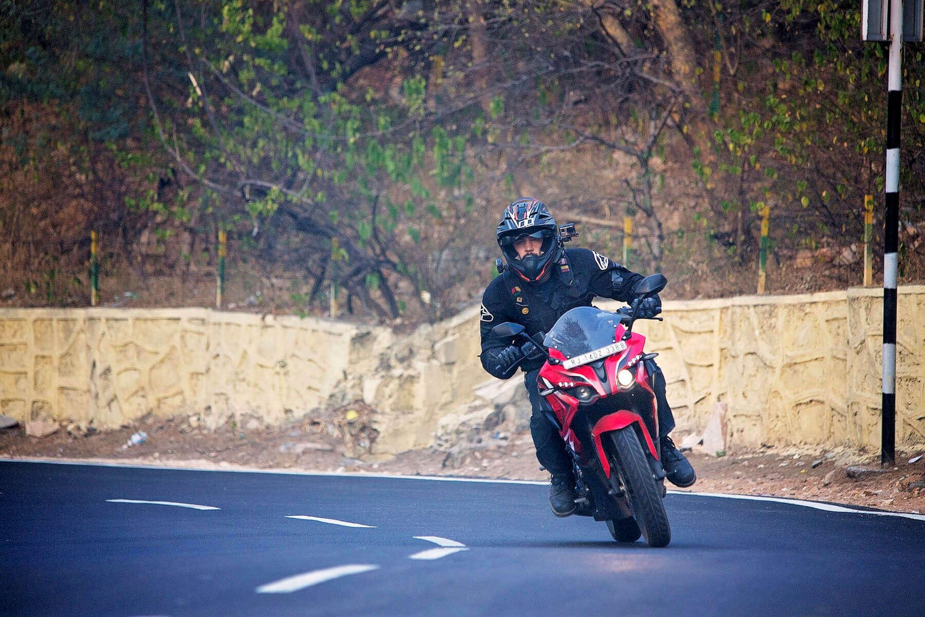 a man riding bike