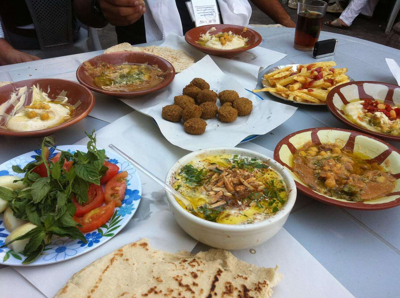 Jordanian authentic food on table