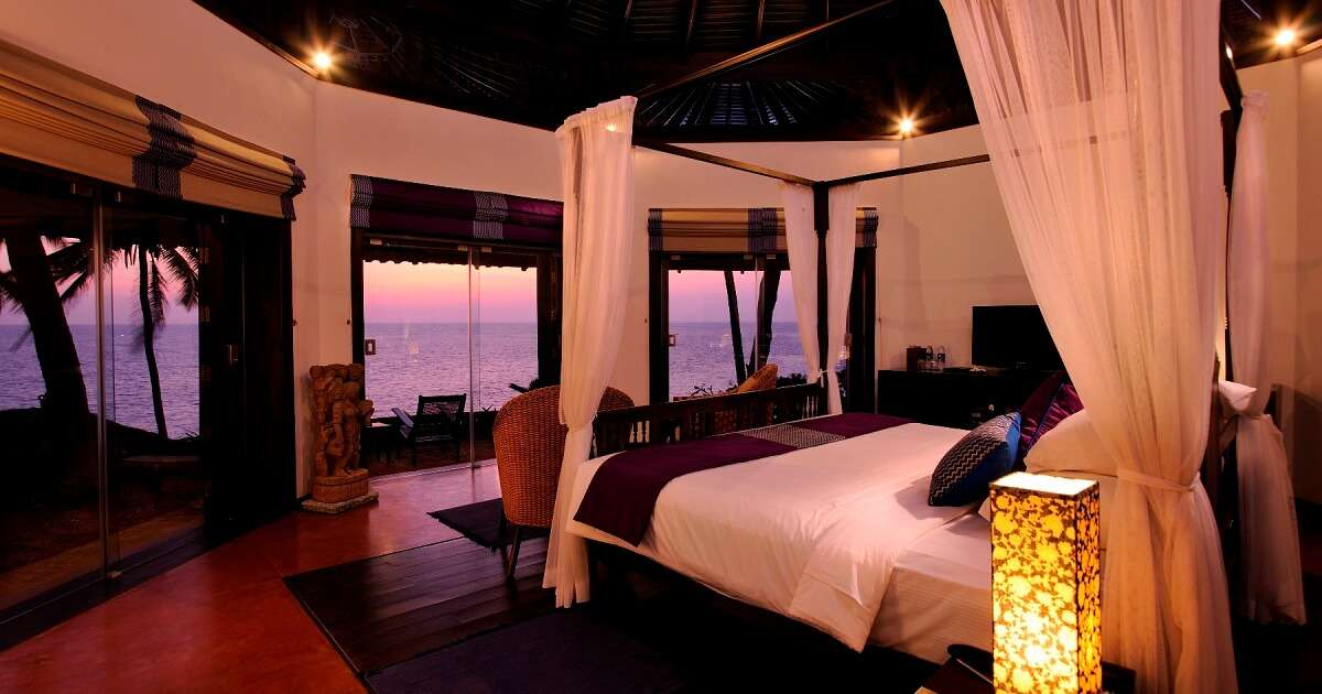 An Octagon Room at the Niraamaya Retreats Surya Samudra in Kovalam in Kerala