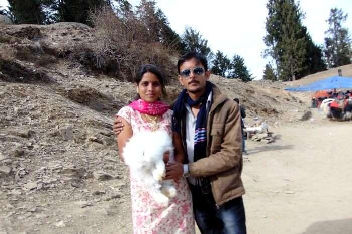 photo with rabbit in kufri