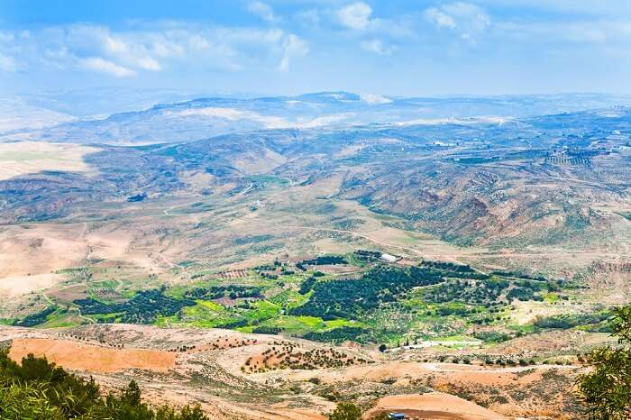 A view of the Promised Land from Mount Nebo in Jordan