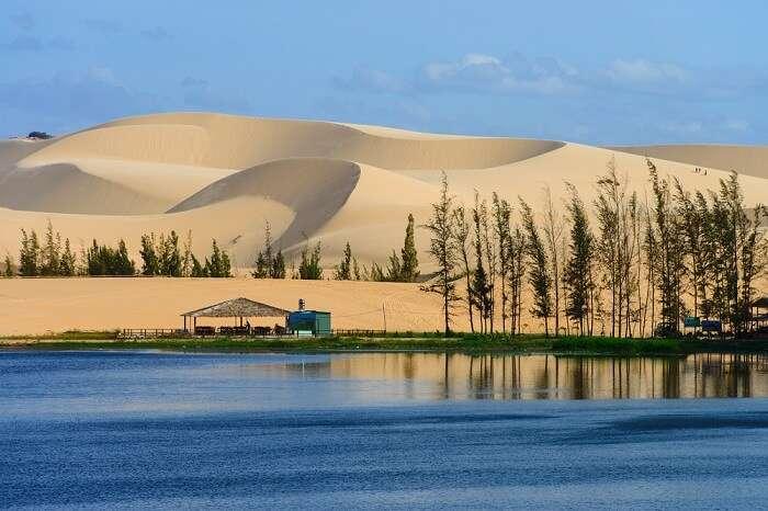 White sand dune in Mui Ne in Vietnam