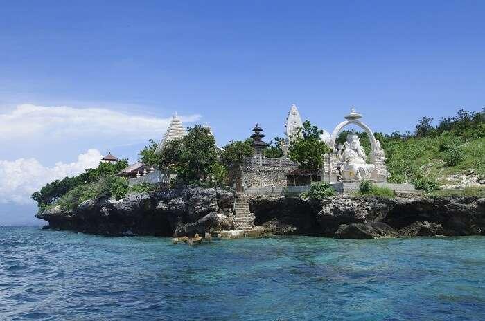 A temple dedicated to the Hindu god Ganesha on Menjangan Island near Bali