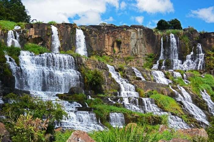 Pongour or Elephant waterfall near Dalat in Vietnam
