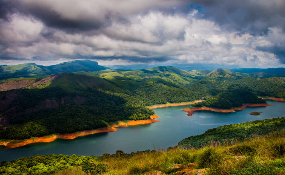 a gorgeous lake in Idukki
