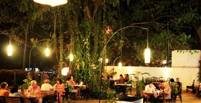 garden restaurant in goa