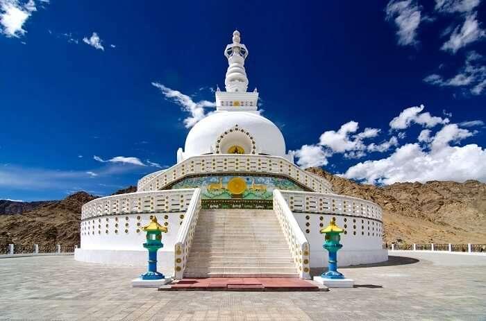 shanti stupa dome in Ladakh