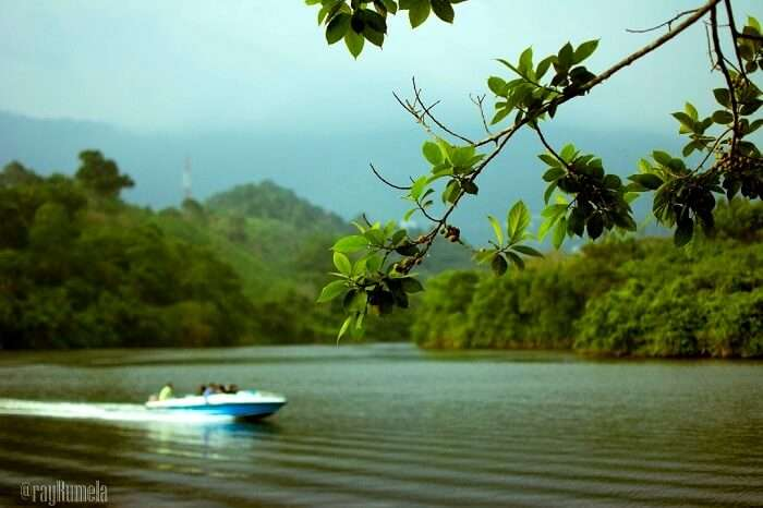 boating in Kundale Dam, Kerala