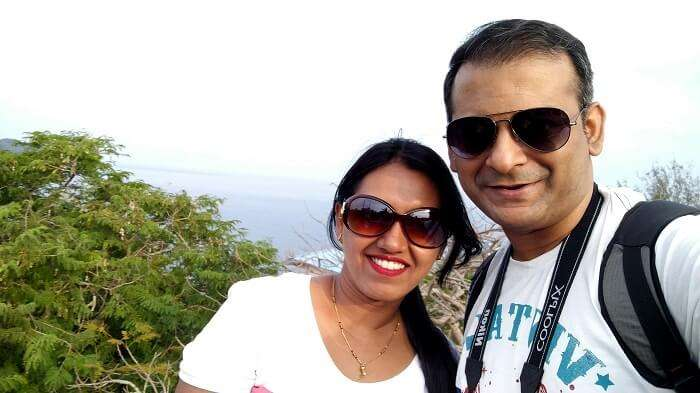 couple on a romantic trip to Andaman