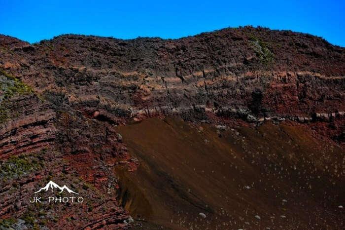 volcano in Reunion Island, France