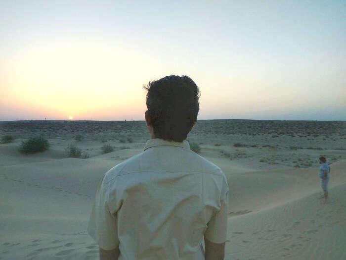 watching the sunrise in jaisalmer