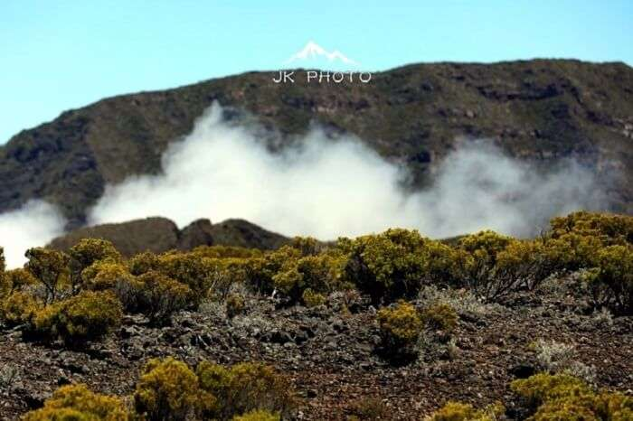 hiking a volcano in Reunion Island, France