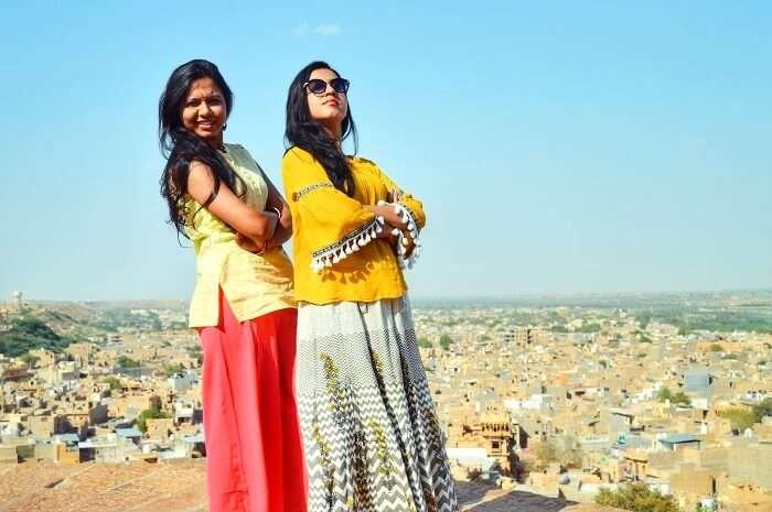 posing at jaisalmer fort