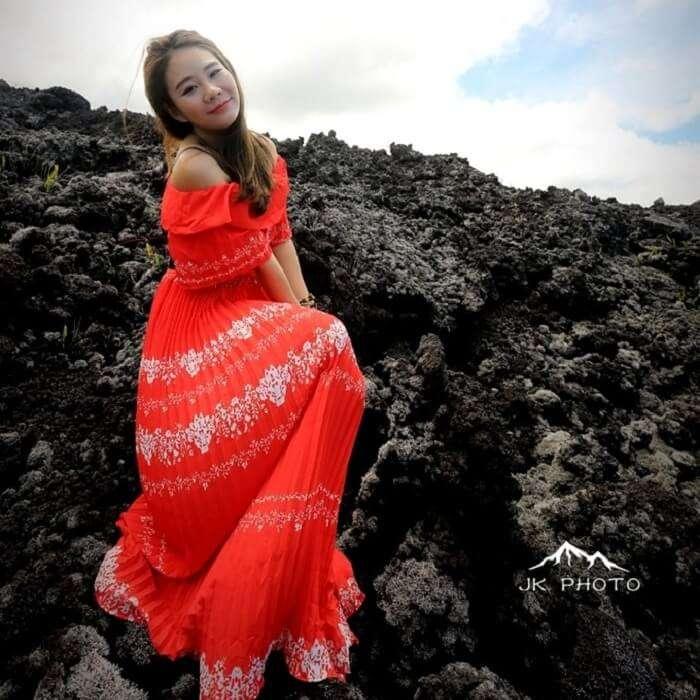 female traveler in Reunion Island, France