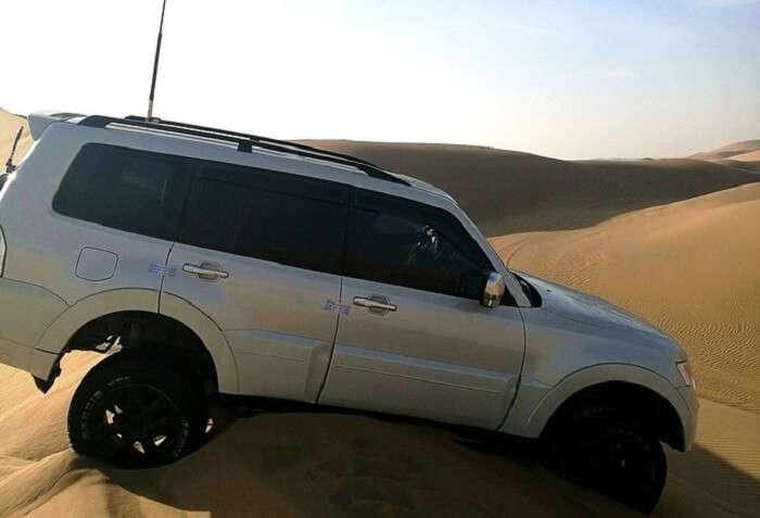 car in tengger desert